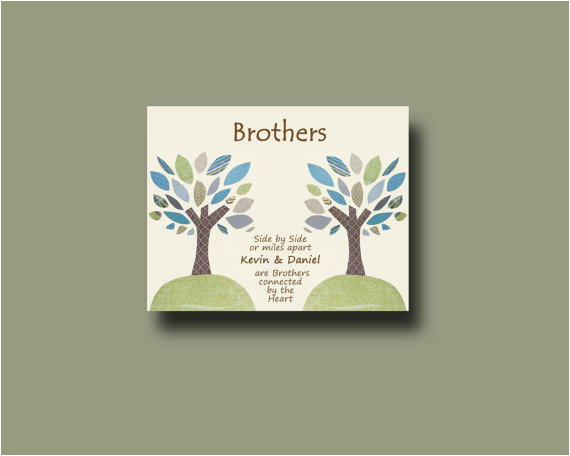 brother gift print personalized gift for