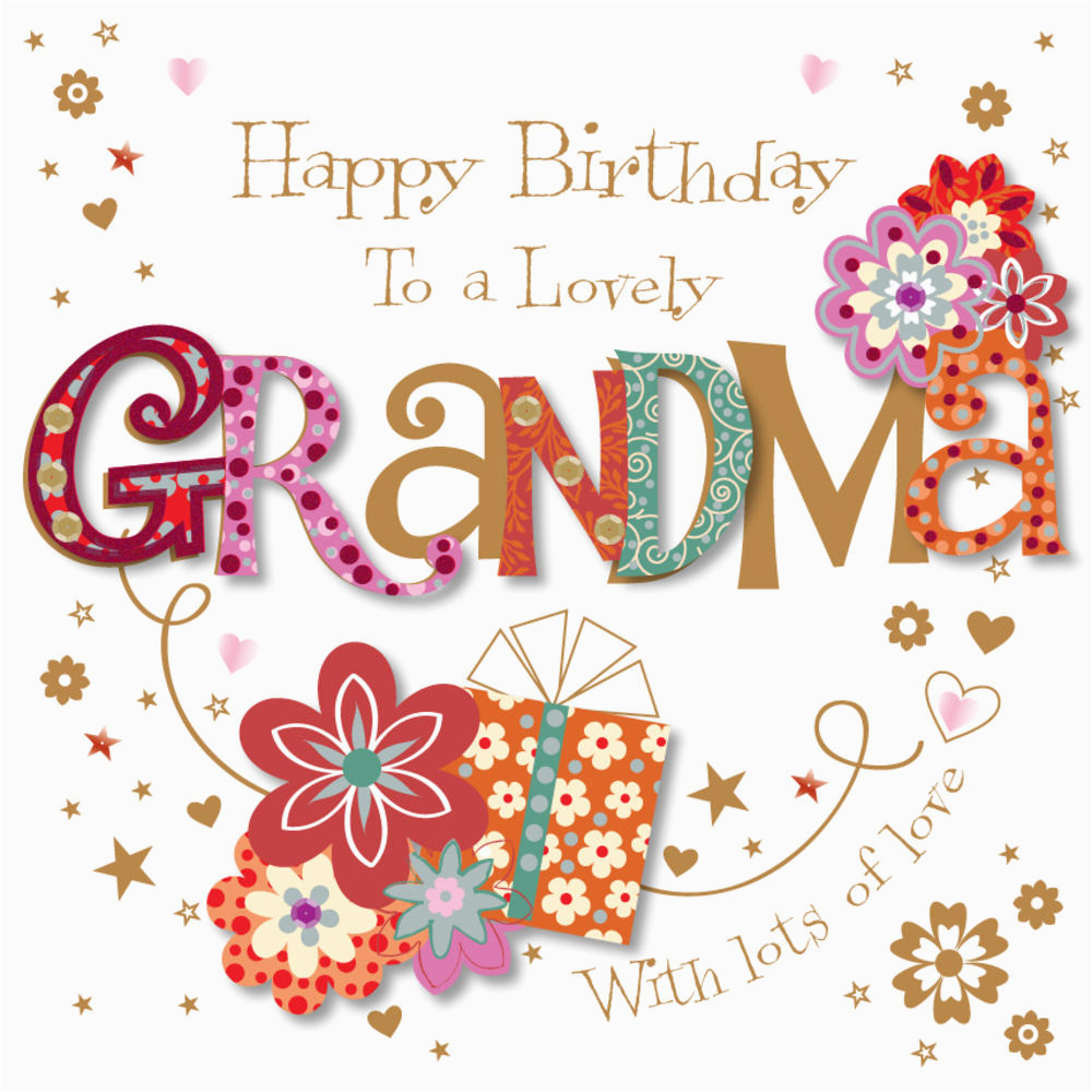 kctpmwe30074 lovely grandma happy birthday greeting card by talking pictures cards