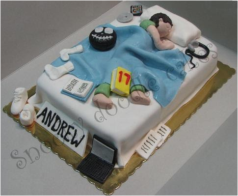 teenage bedroom cake