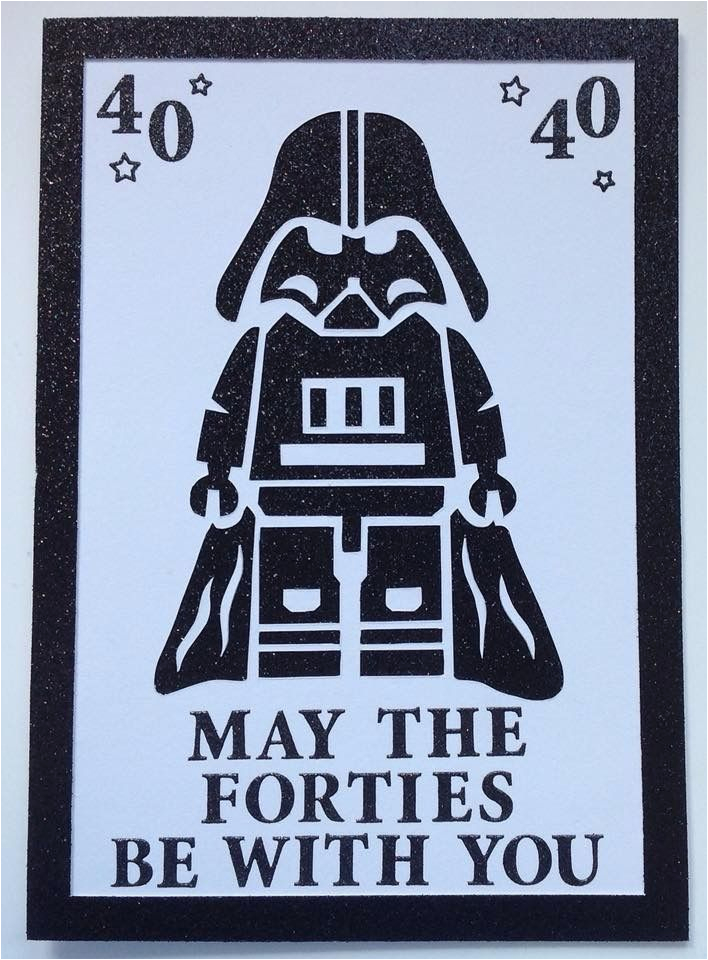 Birthday Gifts for Him Age 40 May the forties Be with You 40thbirthday E Birthday