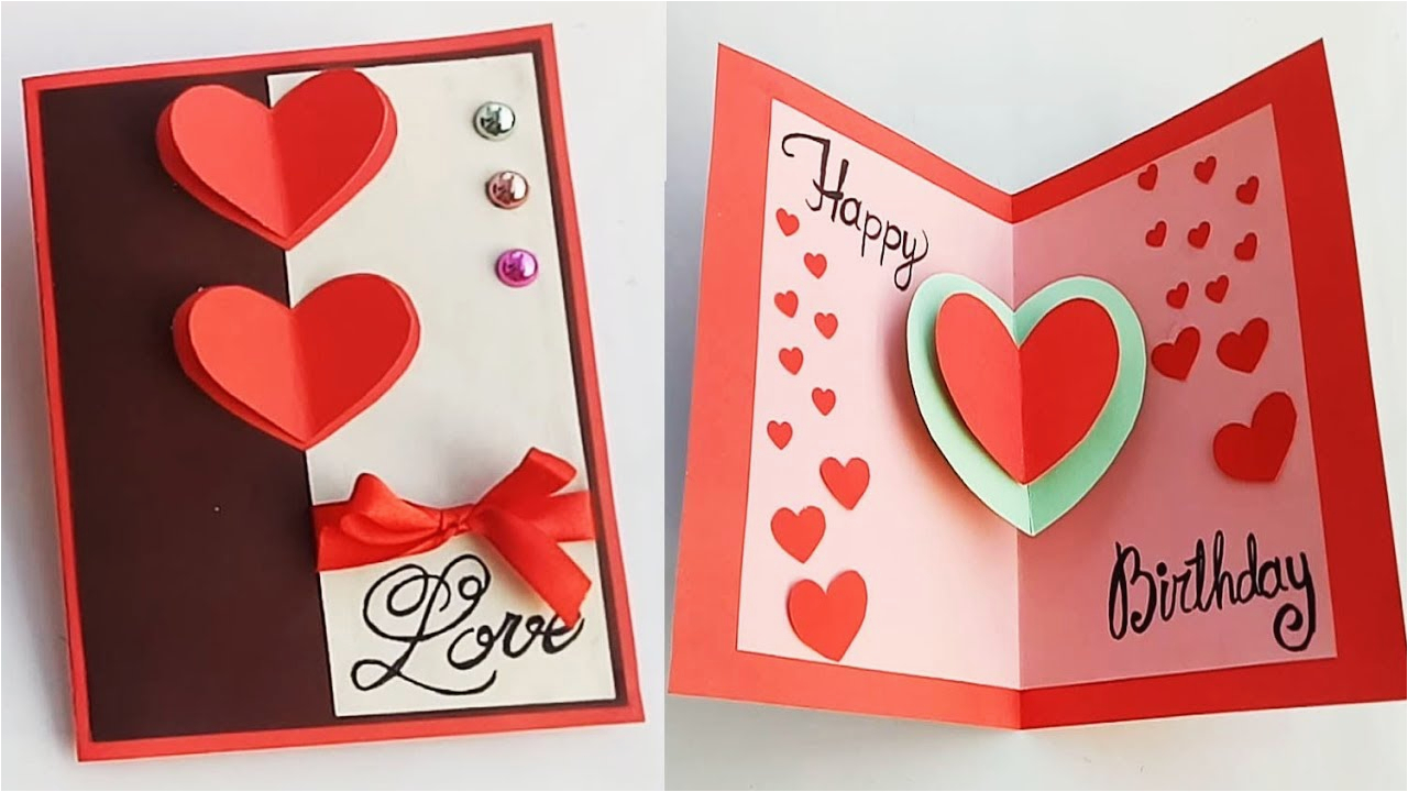 Birthday Gifts for Him Handmade How to Make Birthday Card for Boyfriend or Girlfriend