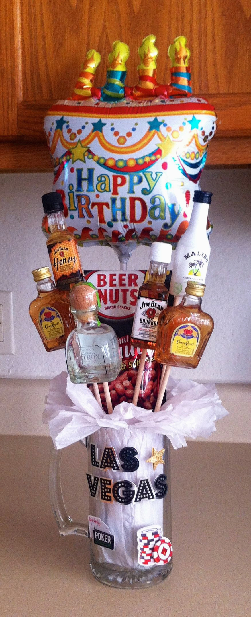 Birthday Gifts for Him In Store Alcohol Bouquet that I Made for My Husbands Cousin for His