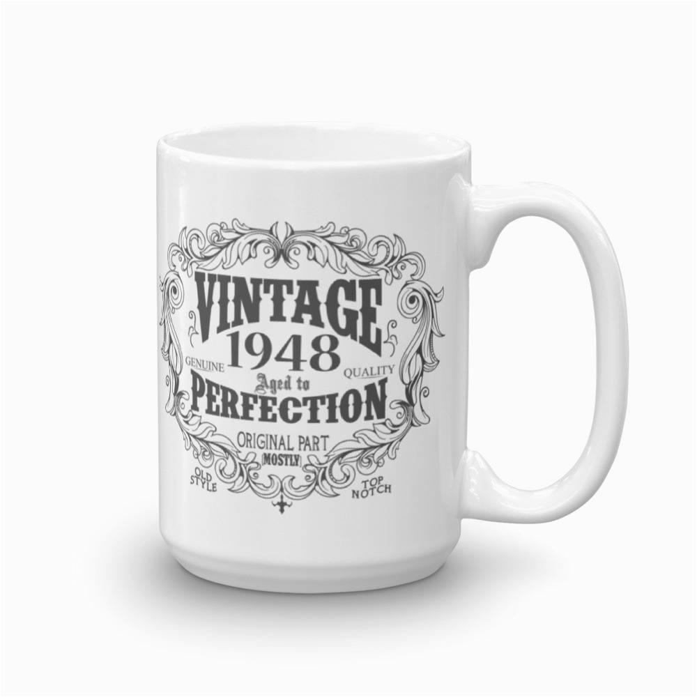 born in 1948 mug 70 years old coffee mug