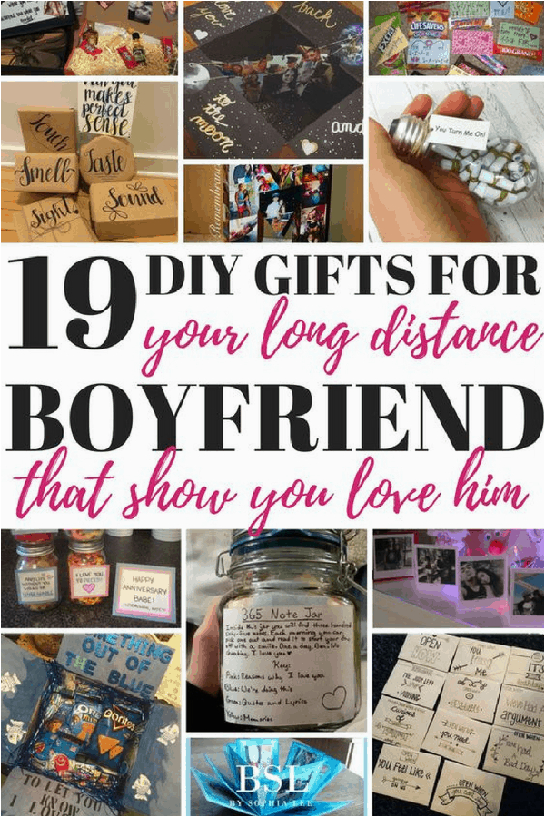 diy gifts for long distance boyfriend