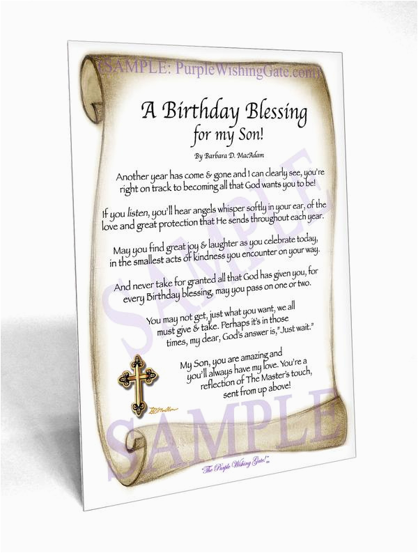 birthday son blessings poems prayer gifts card