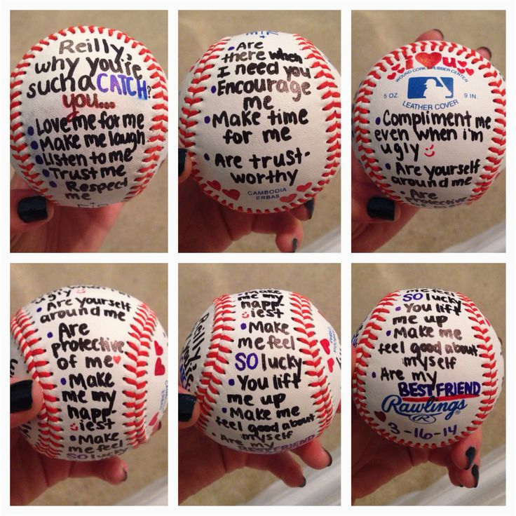 Birthday Gifts for Him Under $10 Gift for Baseball Player Boyfriend Stuff Pinterest