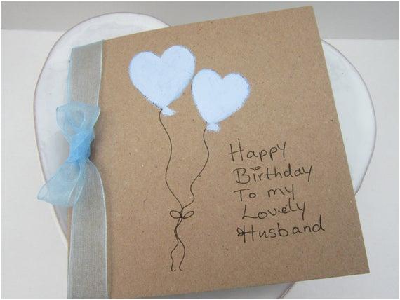 handpainted card heart balloons husband