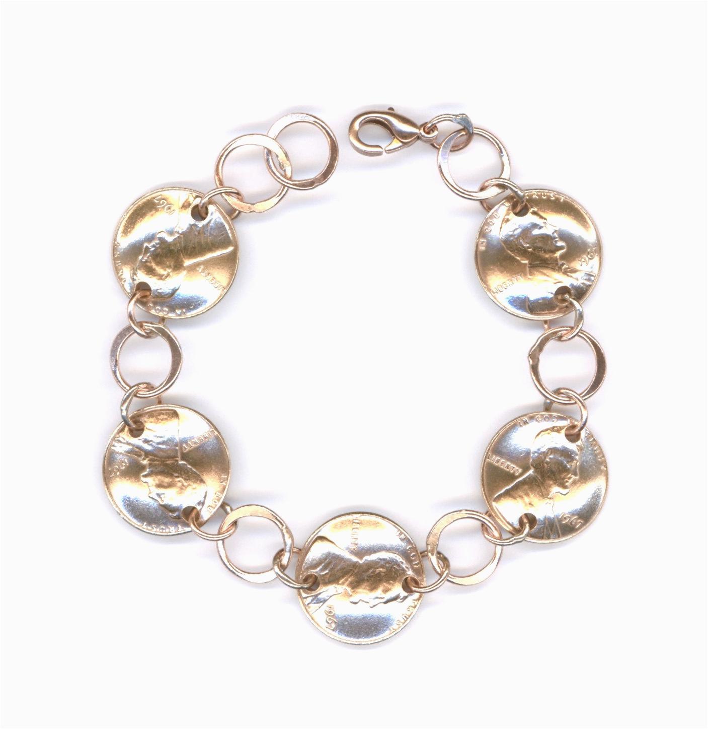1967 penny bracelet jewelry 50th