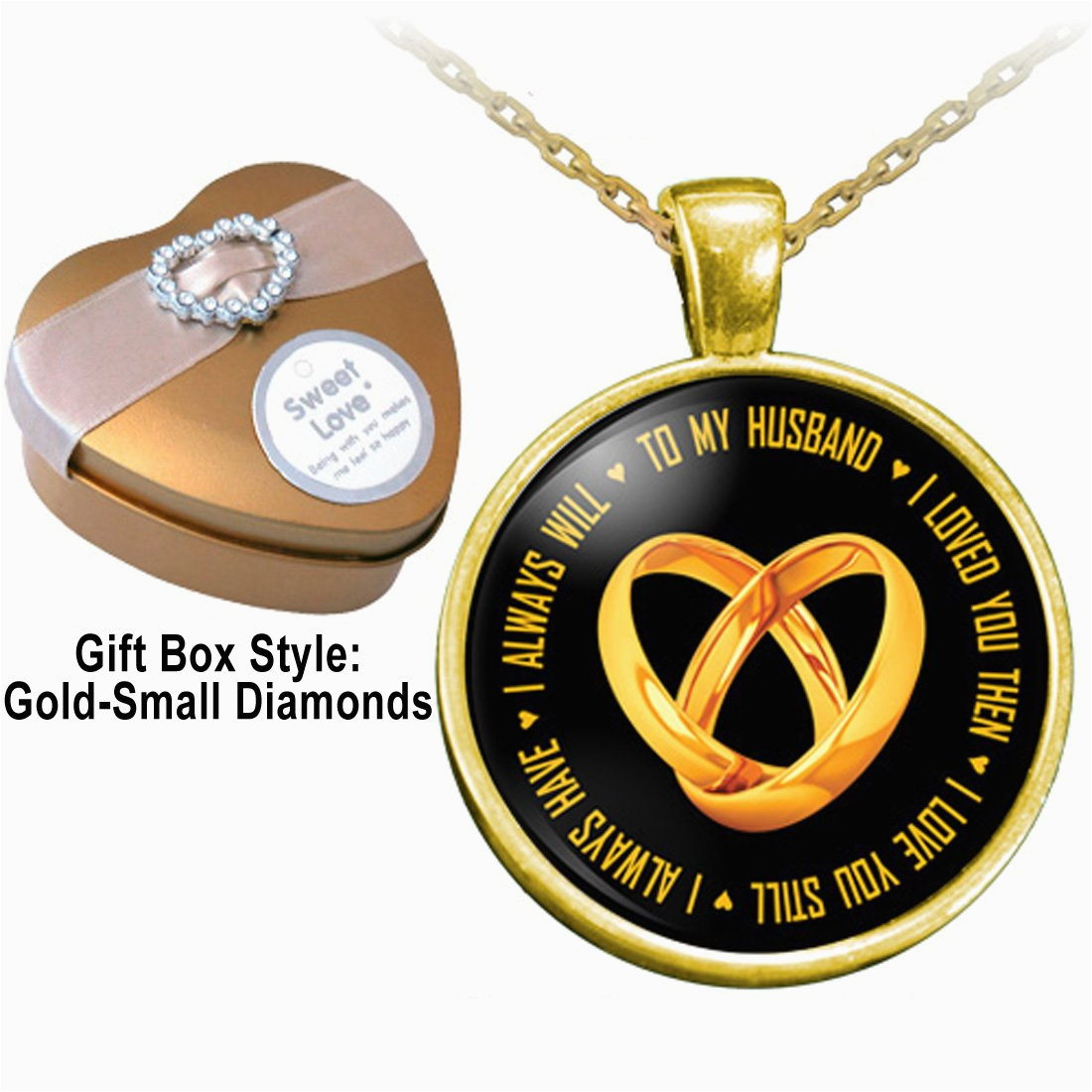 Birthday Gifts for Husband Jewelry to My Husband I Love You Necklace with A Heart Shaped Gift