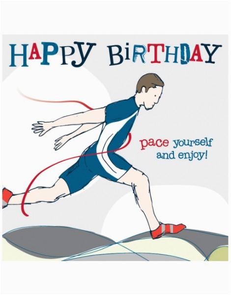 male runner birthday card