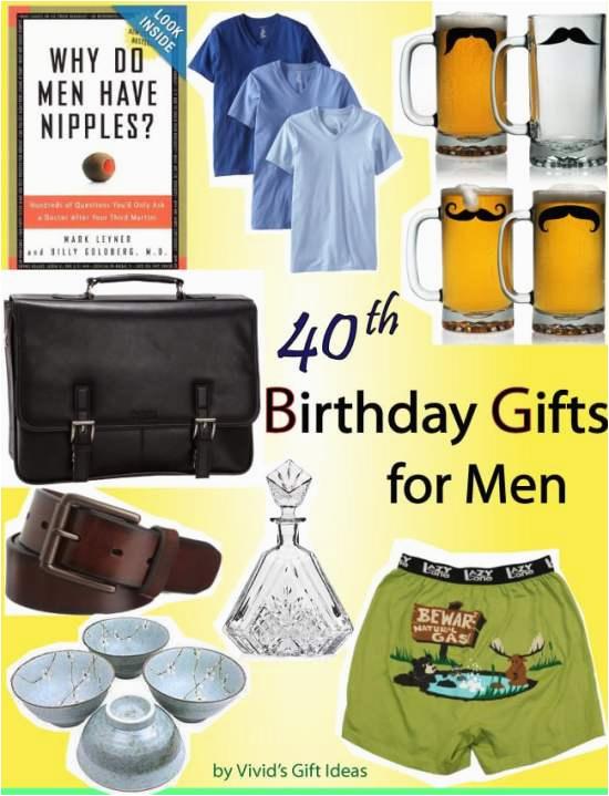 gag gift ideas for mens 40th birthday