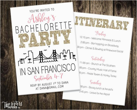 san francisco bachelorette party