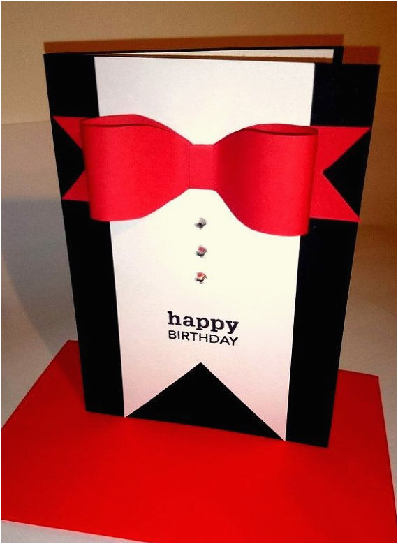Birthday Ideas for Fiance Male Birthday Card Handmade Card for Him by Justacards On Etsy