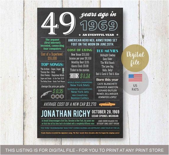 Birthday Ideas for Him Australia 49th Birthday Gifts for Him Men Husband Best Sister