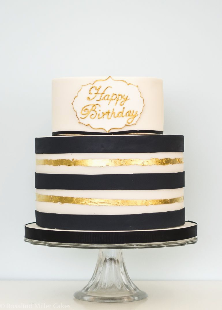 Birthday Ideas for Him London Black and Gold Birthday Cake Cake Decorating Modern