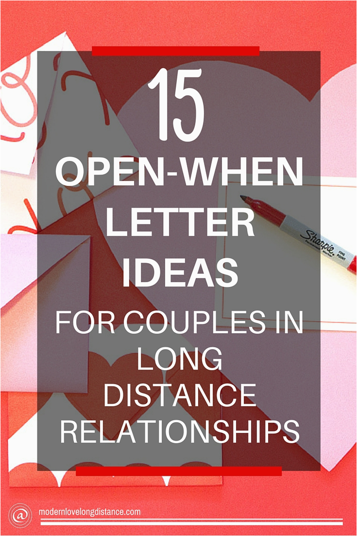 diy long distance gifts open letters