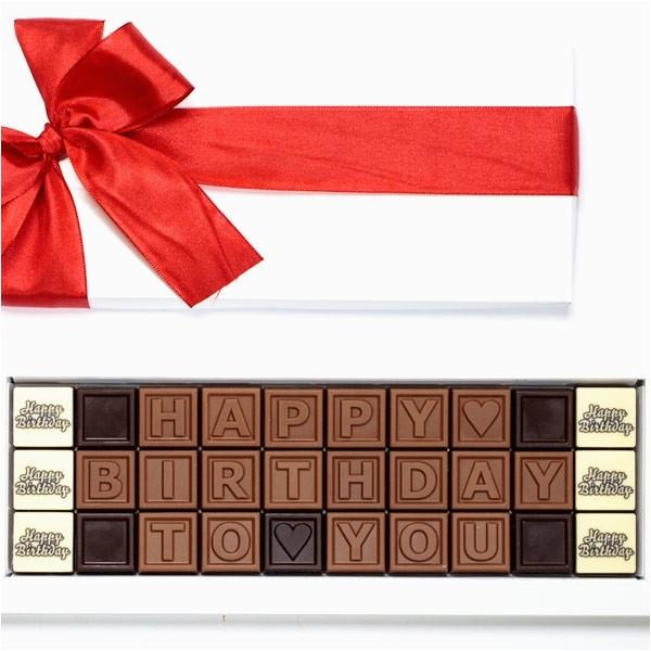 personalised chocolate message birthday