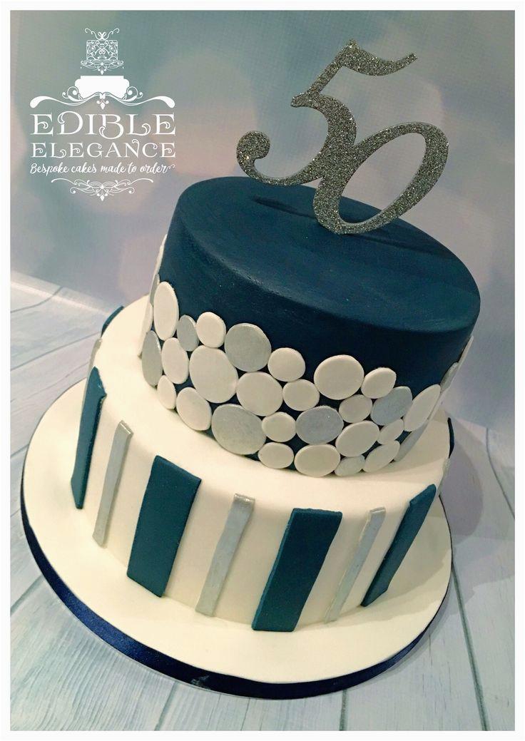 Birthday Ideas for Male 55 50th Birthday Cake Contemporary Design In Masculine Blue