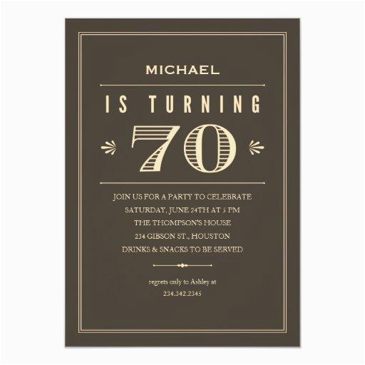 70th birthday invitations for men 161775954635361978