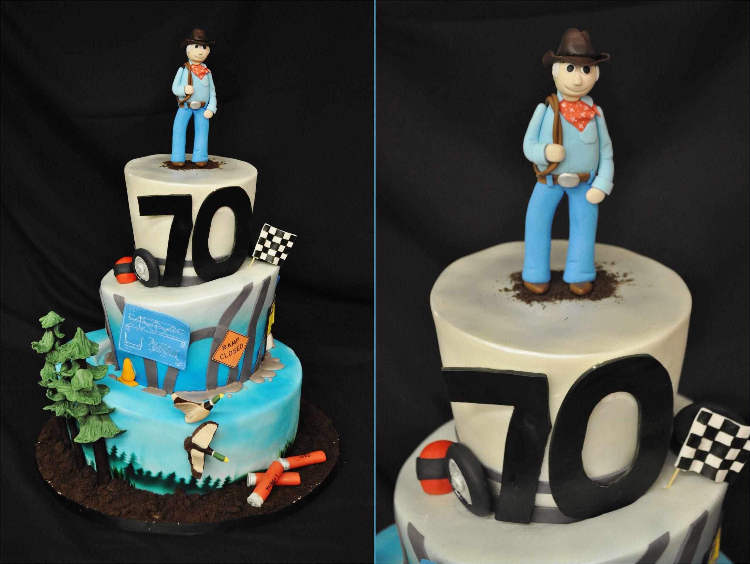 milestone 70th birthday cake