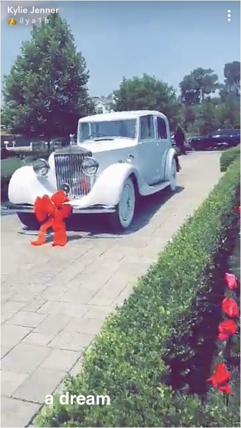 kylie jenner vintage rolls royce 21st birthday gifts