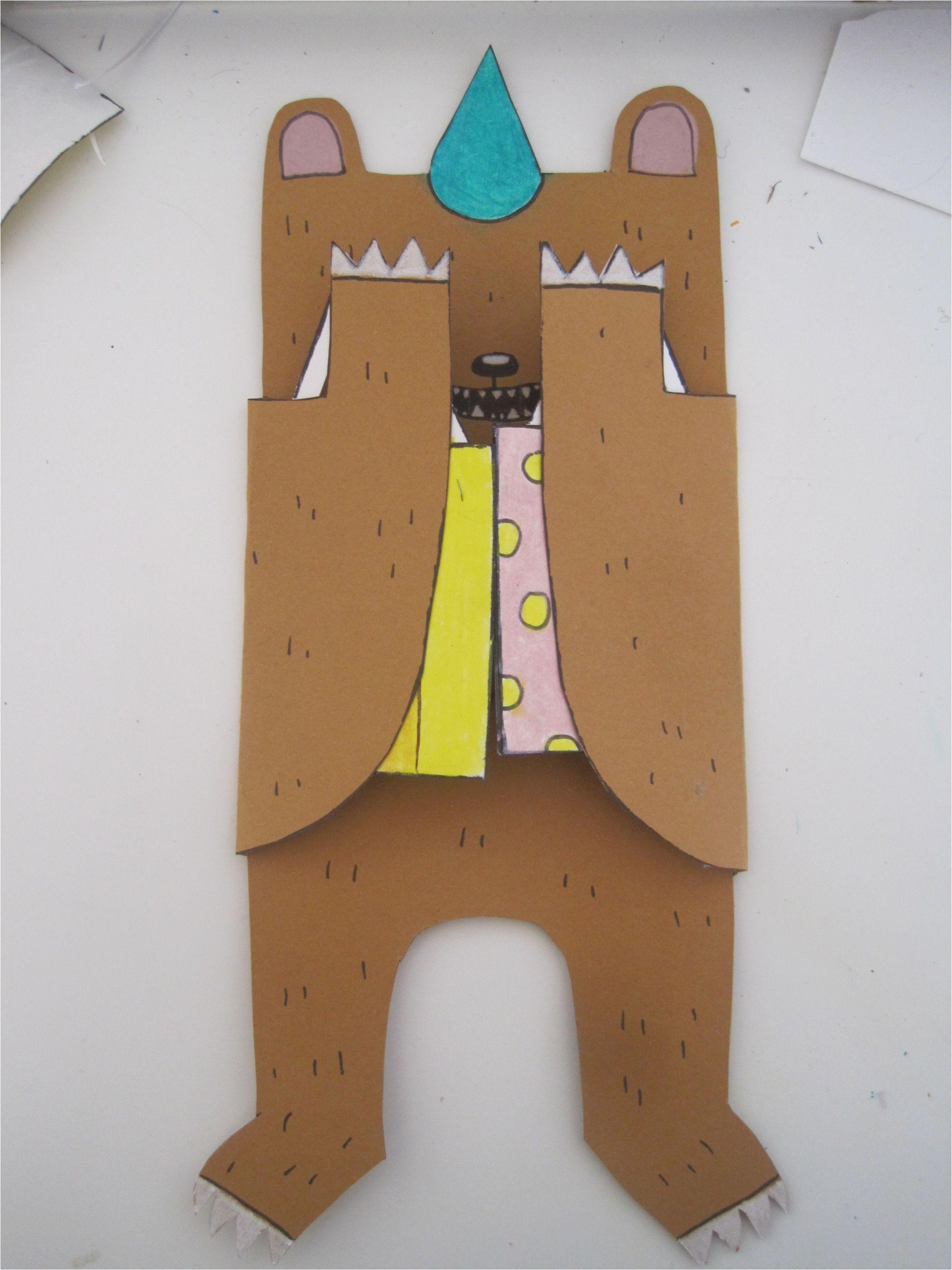 diy birthday bear card
