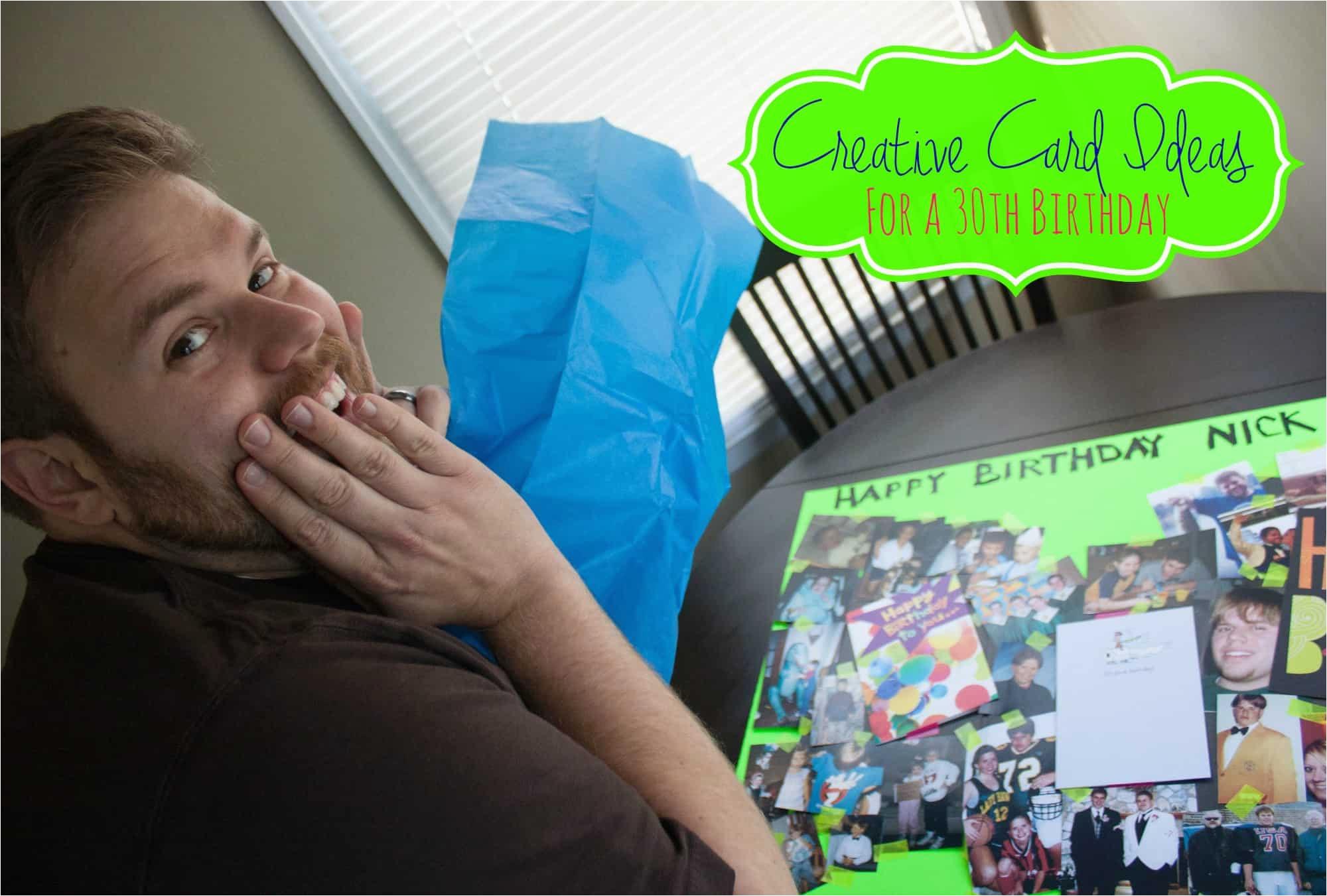 creative card ideas 30th birthday