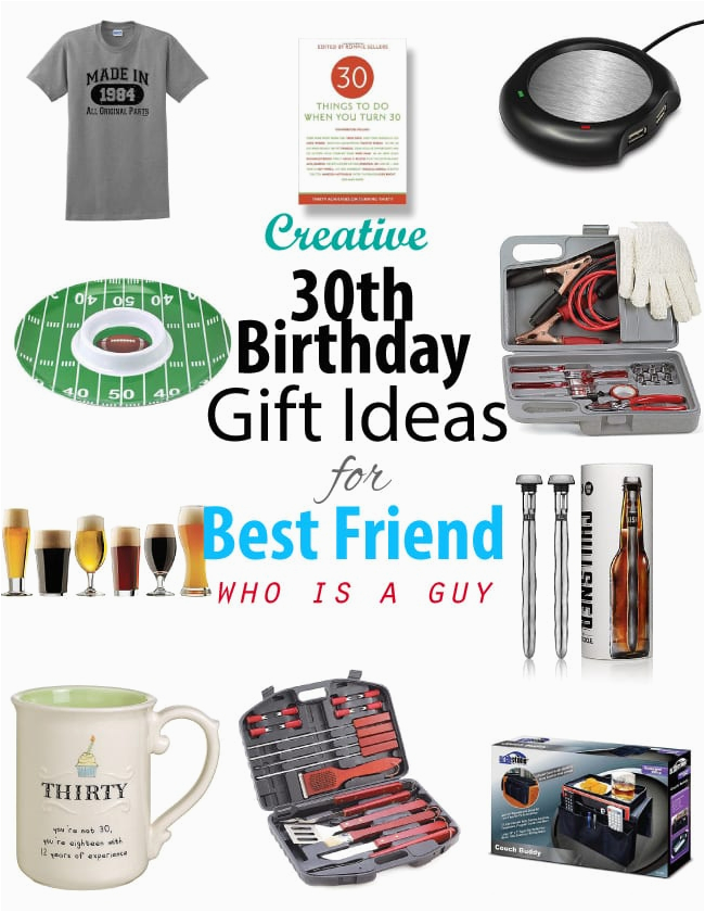 creative 30th birthday gift ideas for male best friend