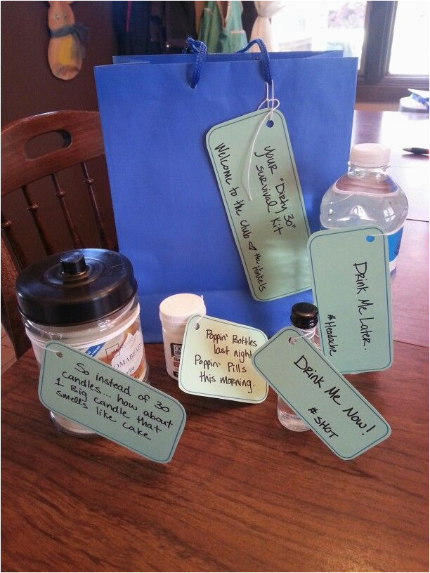 Dirty Thirty Birthday Gift Ideas for Him Dirty 30 Survival Kit 30th Birthday Another Year Older