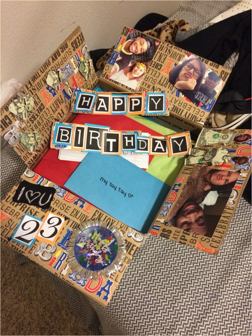 Diy Birthday Gift Ideas for Him Birthday Box for Him Have A Long Distance Relationship