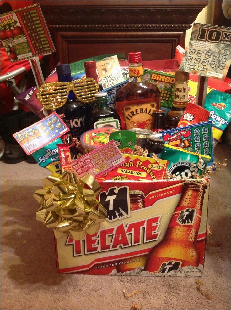 diy birthday gift baskets for him
