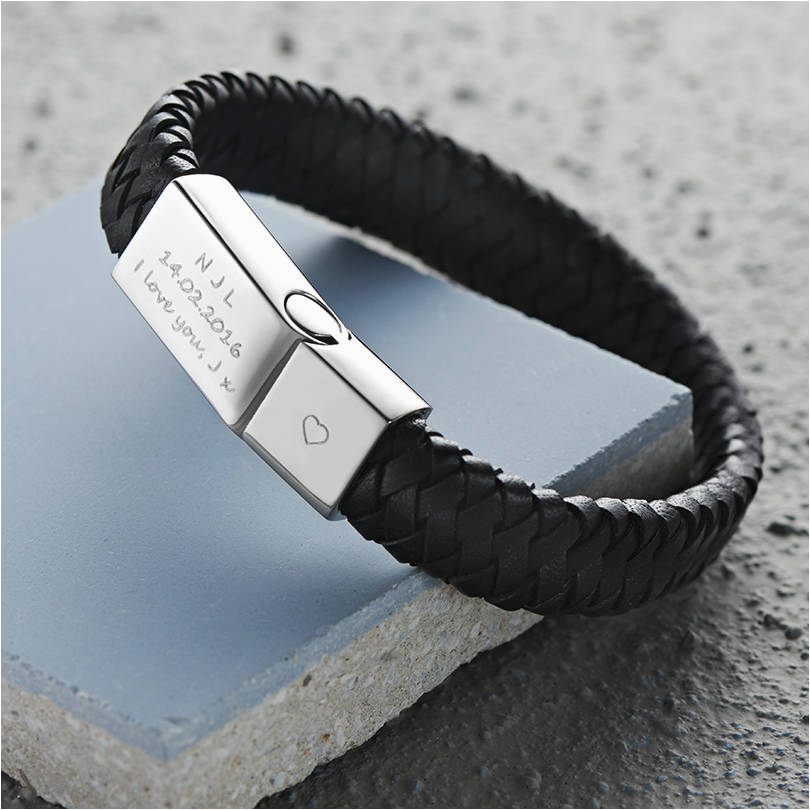 Engraved 21st Birthday Gifts for Him Men 39 S Engraved Message Bracelet by Under the Rose