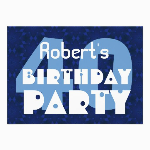 40th birthday party themes for him