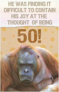 Funny 50th Birthday Ideas for A Man Funny Humorous 50th Birthday Card Male Female 10 X