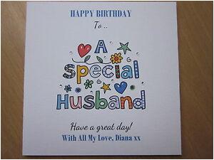 Handmade Birthday Gifts for Husband Personalised Handmade Birthday Card Husband 40th 50th