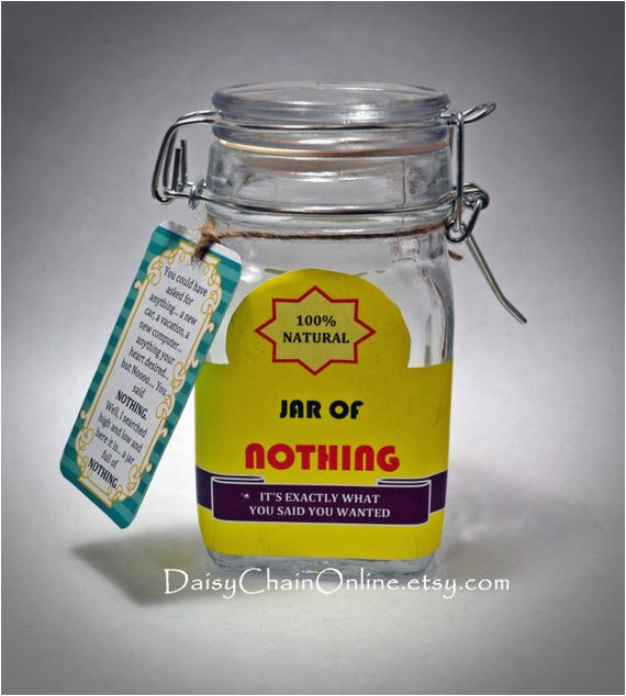 best gag gift a jar of nothing funny