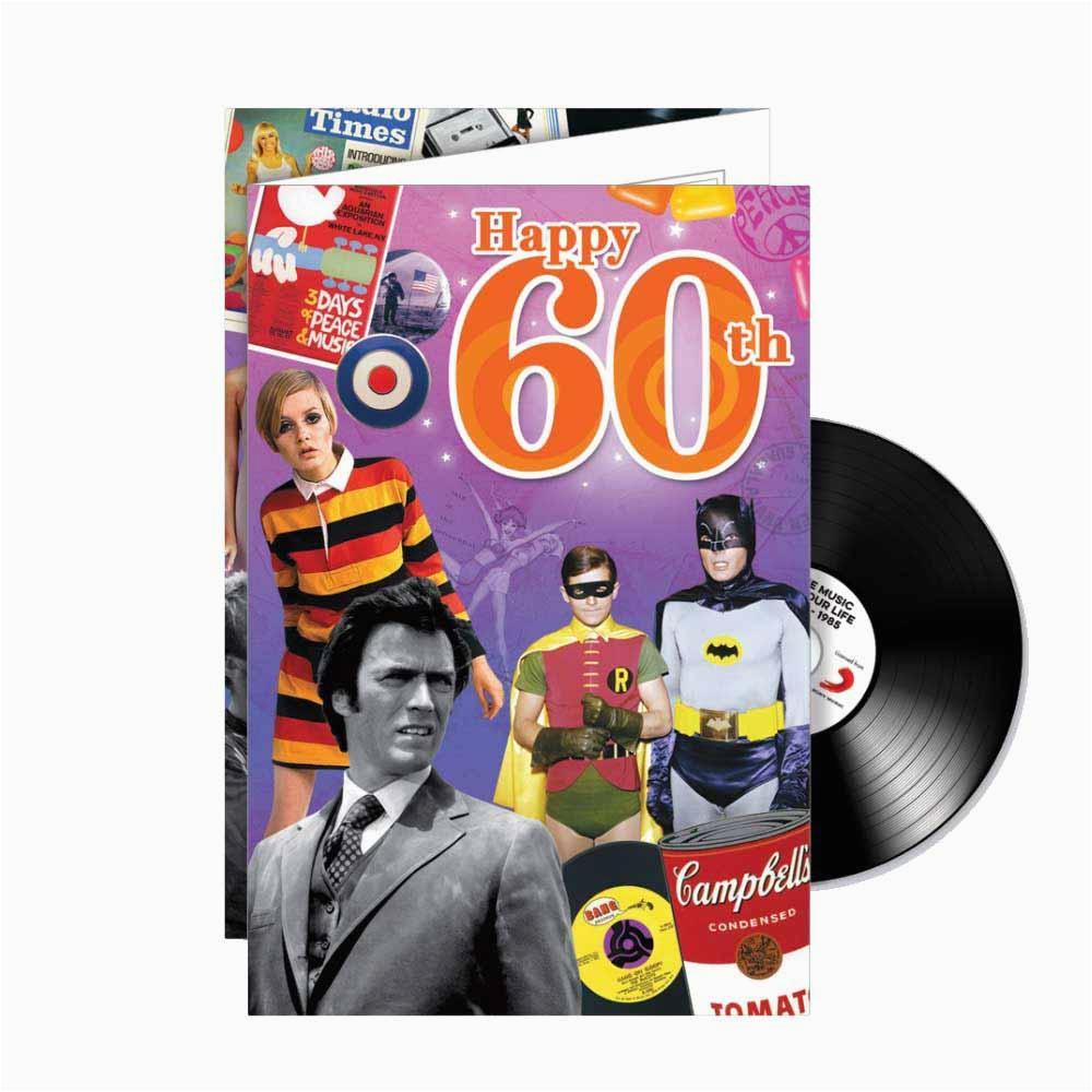 happy 60th cd card