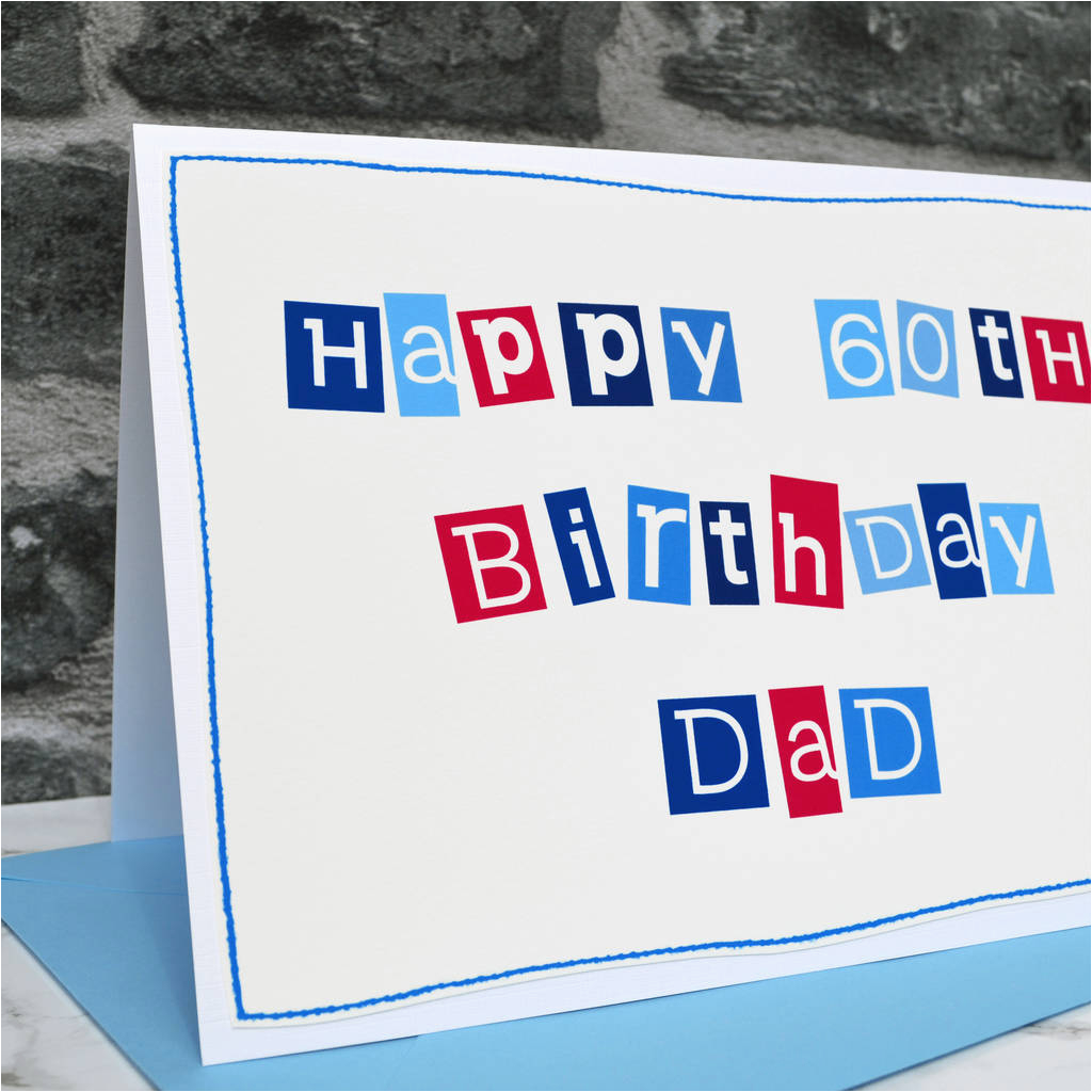 personalised mens 60th birthday card