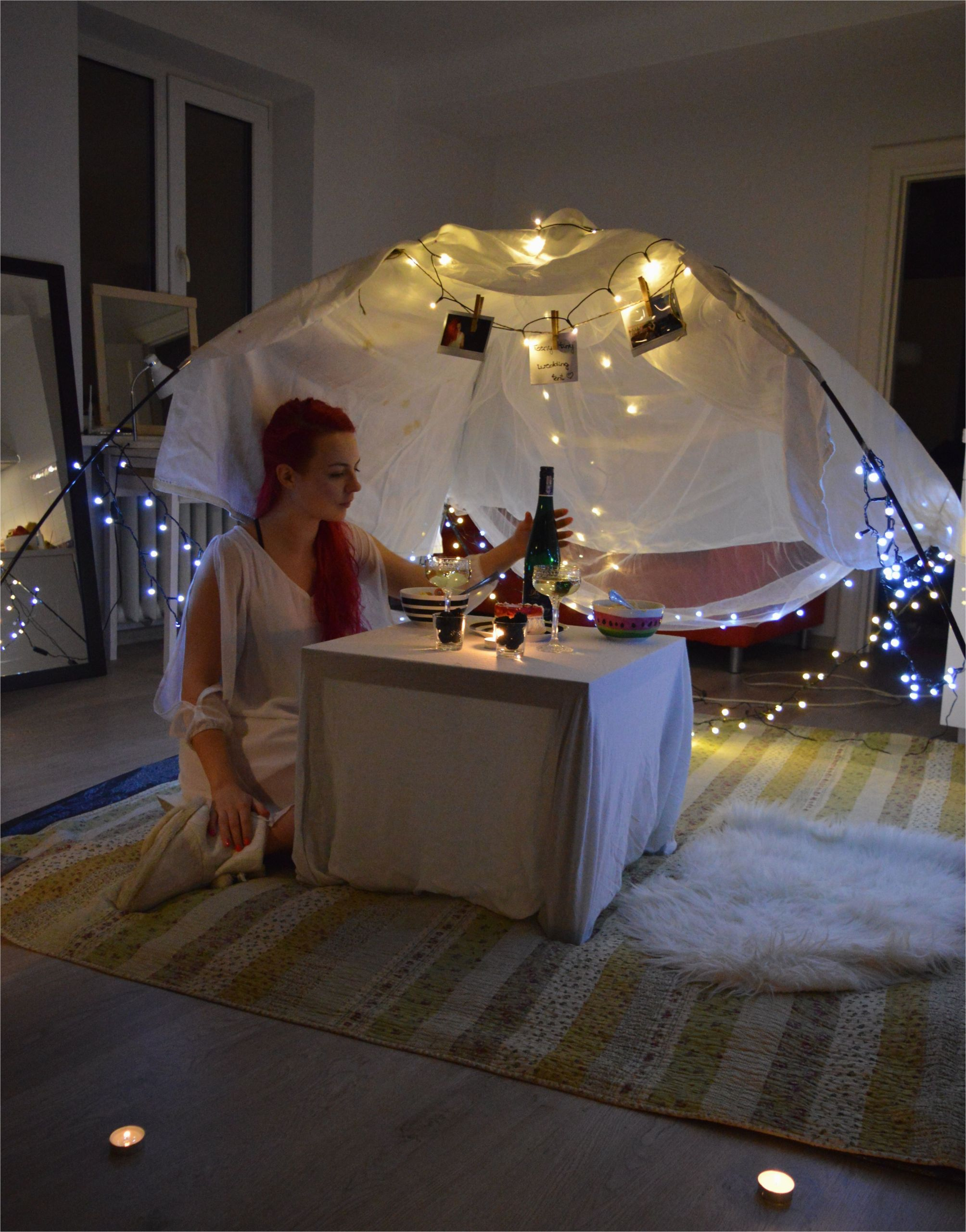 Outdoor Birthday Gifts for Him Cozy Romantic Surprise Birthday Dinner In the Tent at Home
