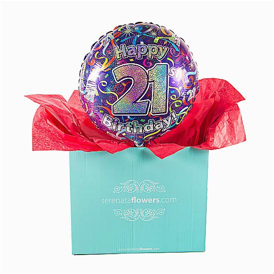 21st birthday balloon gift