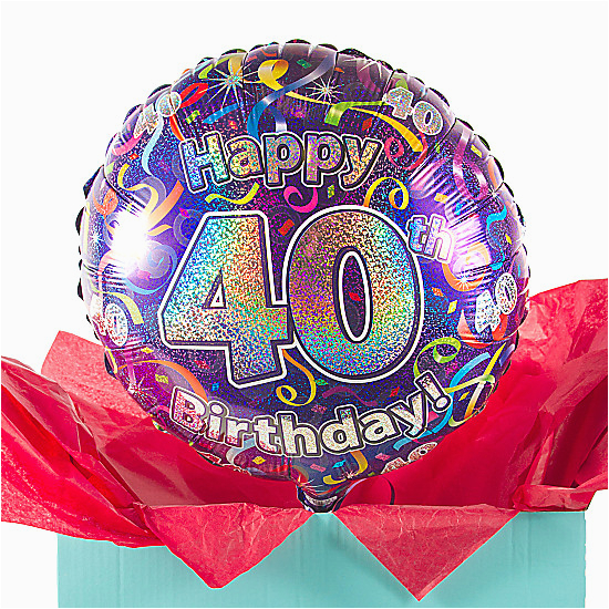 Overnight Birthday Gifts for Him 40th Birthday Balloon Gift Delivered Next Day