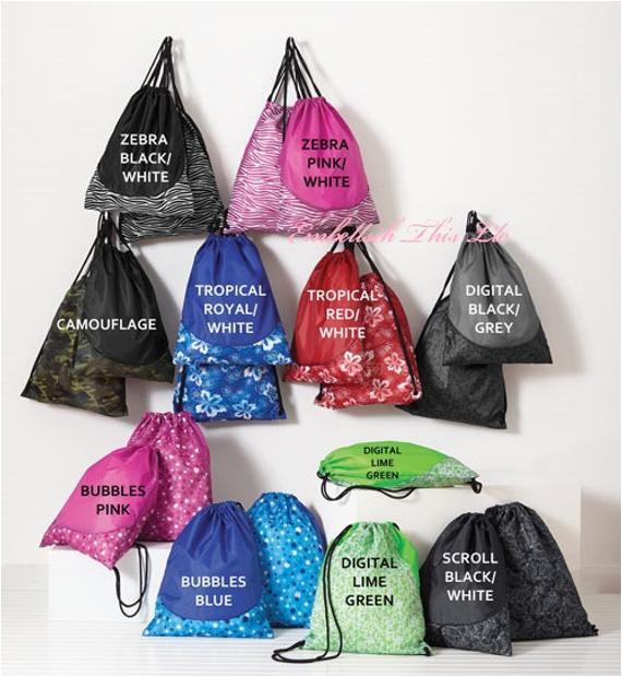 kids personalized drawstring bag ring