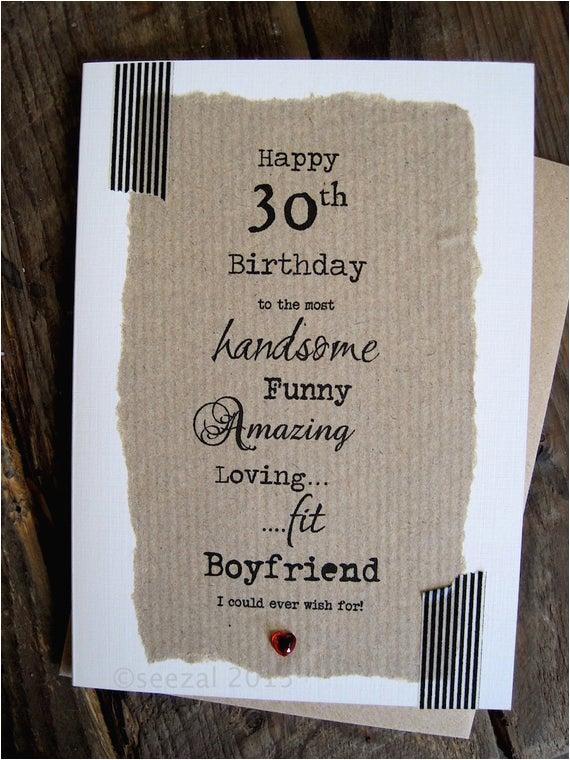 30th birthday card for boyfriend