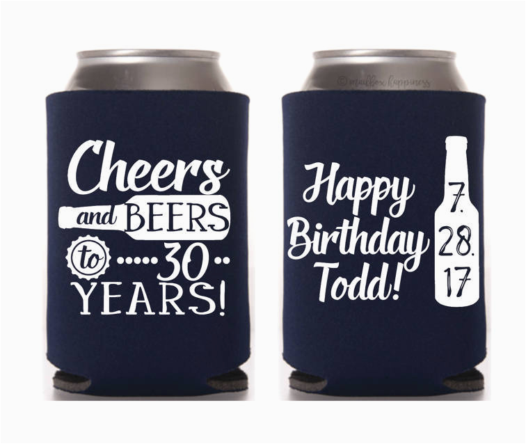 birthday can cooler happy 30th birthday