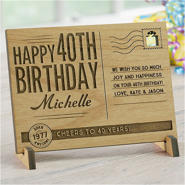 40th birthday gifts