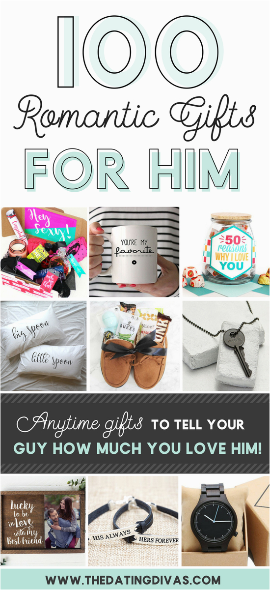 50 romantic gift ideas for him