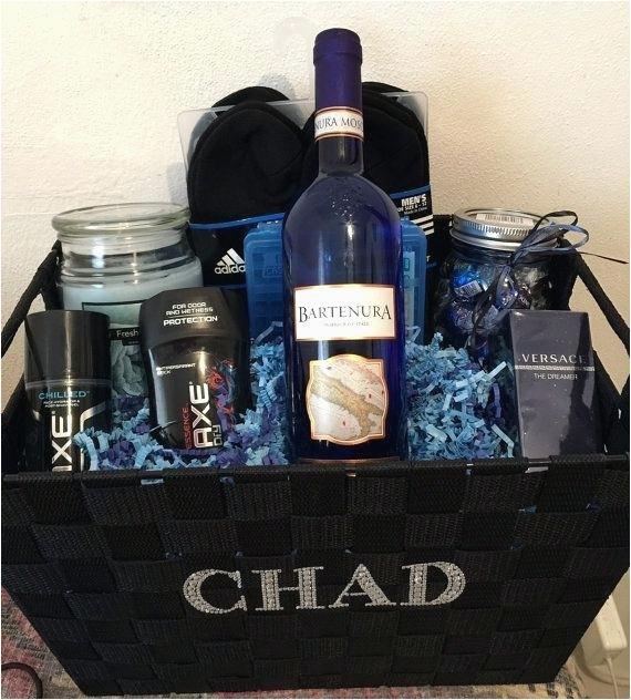 valentines gift basket for him