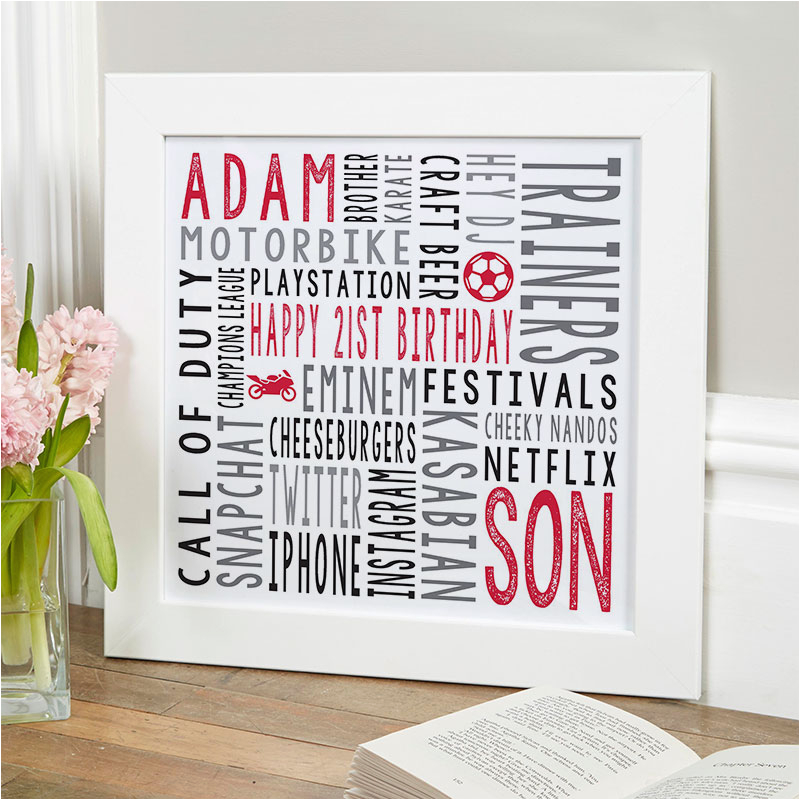 Special 21st Birthday Presents for Him 21st Birthday Personalized Gifts for Him Chatterbox Walls
