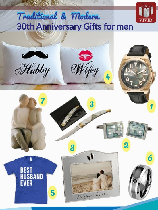 30th anniversary gifts for him
