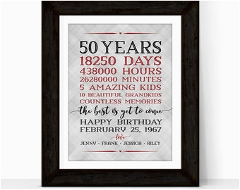 50th anniversary gifts for grandparents